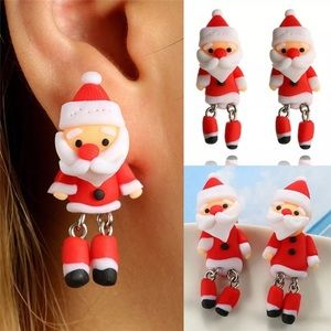 💥5 for $25💥 Adorable Santa Claus Earring